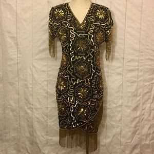 Vintage Mark & John 80's Flapper Style Dress